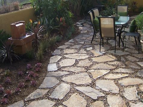 stone backyard patio stone patio design landscaping with pea gravel flagstone