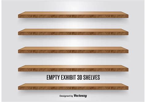 wood display shelves wooden display shelves free vector stock graphics images