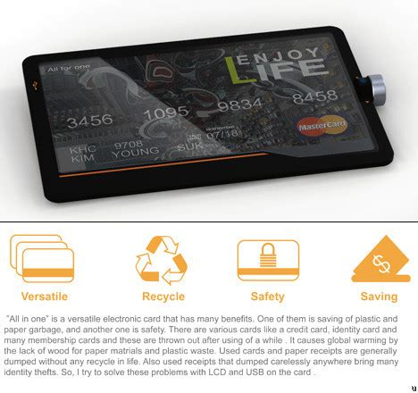 Concept Of Future Credit Card by All In One Credit Card Concept Ubergizmo