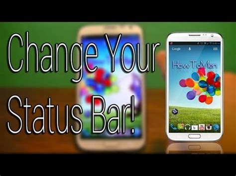 how to change your look how to change your status bar look in android phone do