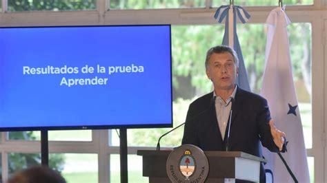 Macri presentó los resultados de Aprender 2016 y se ... Caer En La Escuela Publica