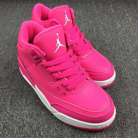 All 3s air 3s retro pink all pink white for