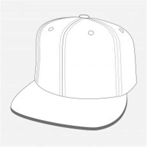 flat cap template fitted flat peak cap x free images at clker vector