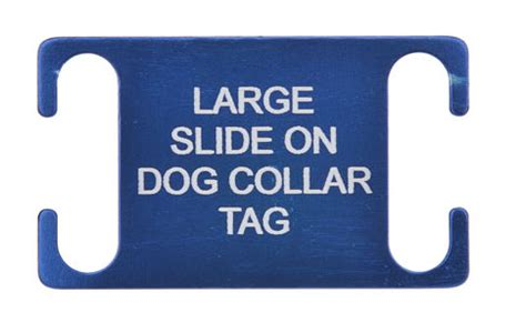 slide on tags large slide on pet id tags ideal for working agility dogs