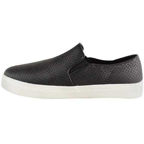 flat slip on shoes for womens skater trainers flat slip on plimsolls