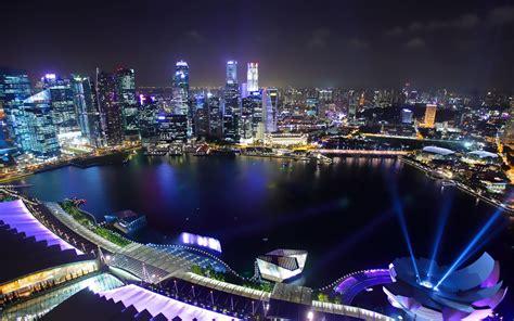 pc themes singapore contact cityscape night singapore city photography wallpaper
