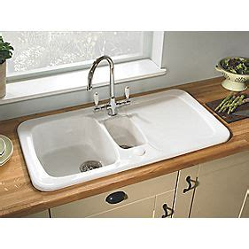 wickes kitchen sinks sale astracast aquitaine ceramic 1 5 bowl square inset sink w