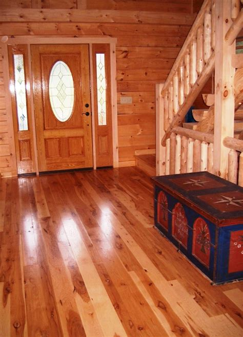 rustic log cabin wood floors log cabin homes floor plans small log homes floor plans hickory wide plank floors hull forest blog