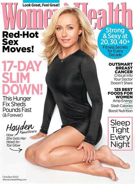 women magazine hayden panettiere in women s health magazine october 2012