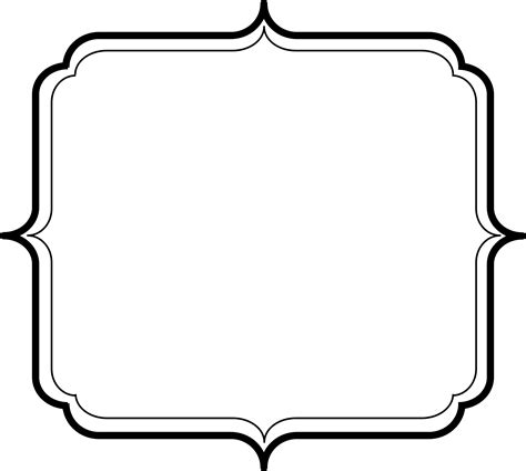 design frame template simple photo frame clipart best