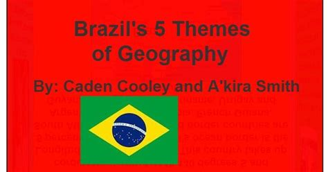5 Themes Of Geography On Brazil | so cool this is a 3d flip cube on brazil s 5 themes of
