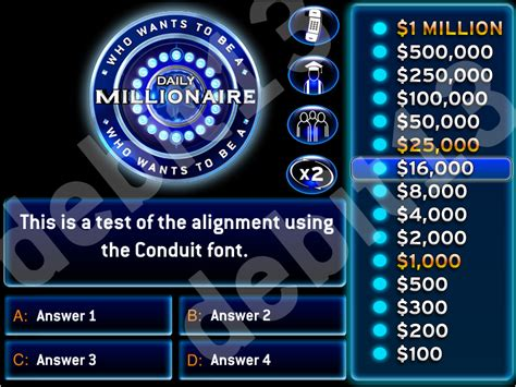 Who Wants To Be A Millionaire Powerpoint Template With Music Daily Millionaire Template Powerpoint Who Wants To Be A Millionaire Template