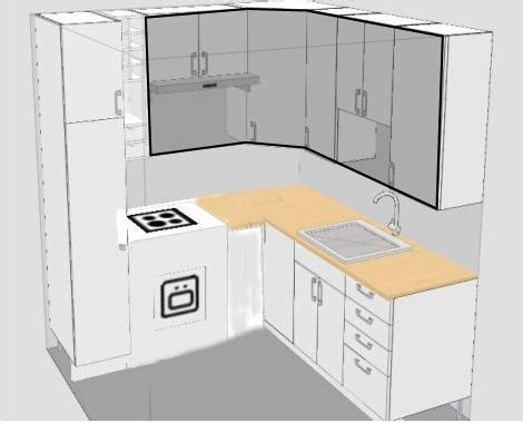 L Type Small Kitchen Design تصاميم لـــمطابخ صغيرة Clairefunny