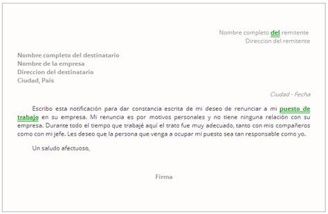 ejemplo de carta de renuncia breve ejemplos de carta carta de renuncia tu plantilla express