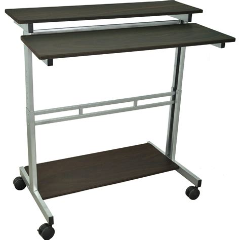standup desk luxor standup 40 b or standup 40 dw adjustable stand up desk