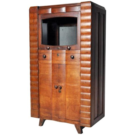 Deco Cabinets by Deco Radio Cabinet At 1stdibs