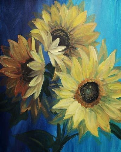 paint nite quarter bloom paint nite sunflowers in bloom