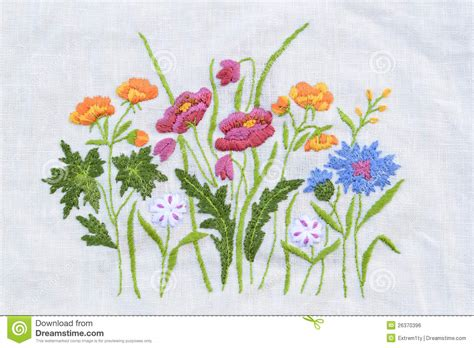 Embroidery Handmade - handmade flower embroidery stock photo image of artistic