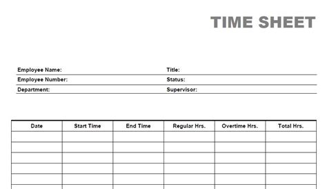 free printable weekly time sheets for excel