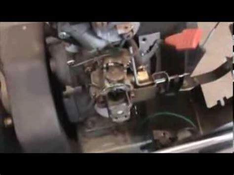 craftsman snowblower carburetor repair youtube