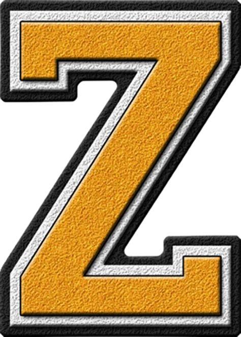 College With Letter Z Presentation Alphabets Gold Varsity Letter Z