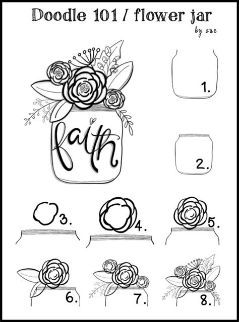 doodle name faith doodle 101 flower jar jars faith and flower