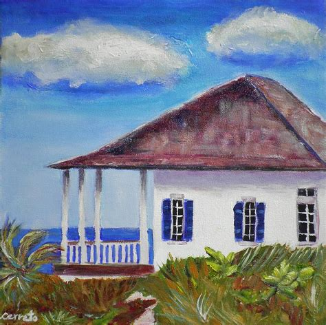 beach house paintings beach house painting by shirley cerreto