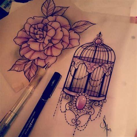 tattoo drawing designs tumblr bird cage sleeve search tattoos