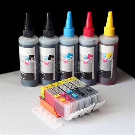 Riva Ink Canon 250 Ml Cyan refillable cartridge kit pgi 250 cli 251 for canon pixma