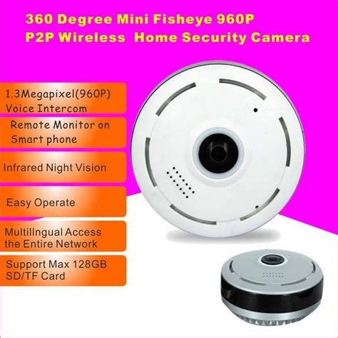 960p cylindric network hd 360 degree fisheye p2p wifi ip