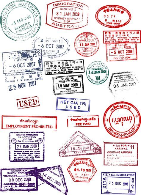 passport rubber st different passports template vector 02 vector label free