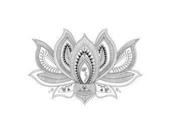 Lotus Flower Pdf Mandala Lotus Flower Design Instant