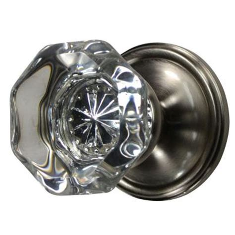 Homedepot Door Knobs copper mountain hardware brushed nickel octagon