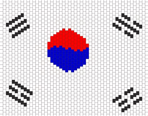 kpop pattern password south korea flag bead pattern peyote bead patterns