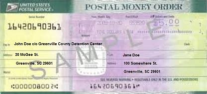 howto   fill   money order   inmate  jail