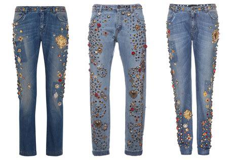 couture embellished denim trend 2015 diy embellished jeans trending fashion the lady loves