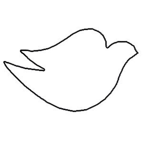 white dove template best dove outline 7665 clipartion