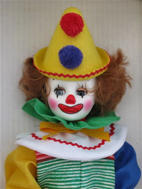 Homer clown doll, mint in vintage Effanbee box
