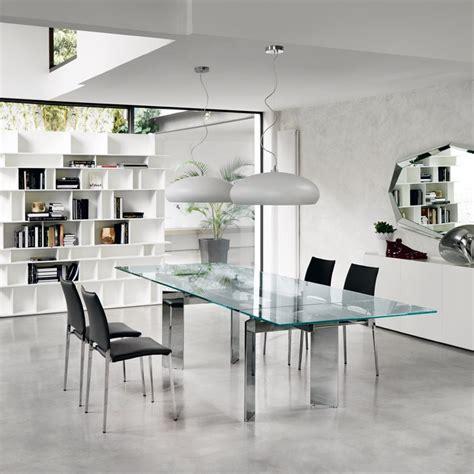 tavolo in cristallo tavolo cristallo allungabile elan di cattelan tavoli a