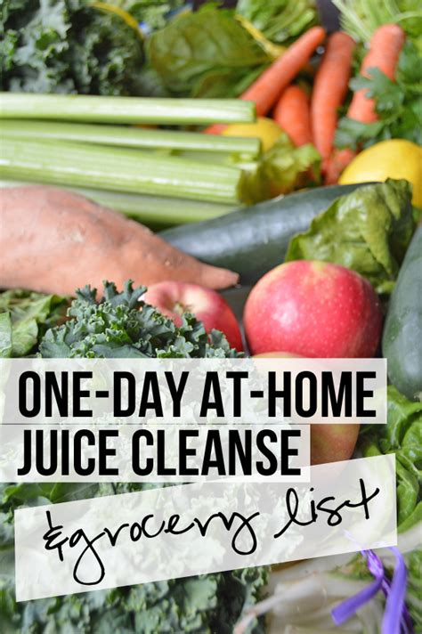 One Day Detox Cleanse by One Day At Home Green Juice Reset Grocery List Pumps