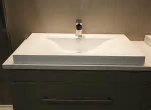 Polymarble Vanity Tops by Basin Fiord Polymarble Vanity Top 800x470x55 Bathrooms
