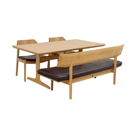 wood dining set with bench 64 off conde house conde house wood dining set with