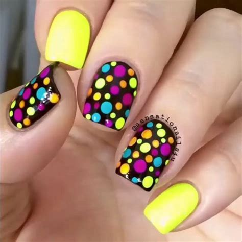 colorful nail 22 lovely polka dot nail designs for 2016 pretty designs