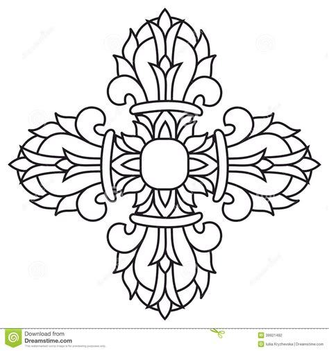 sacred buddhist religious symbol vajra or dorje vector