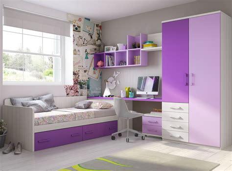 canapé mauve cuisine chambre ado fille avec armoire courbe pratique
