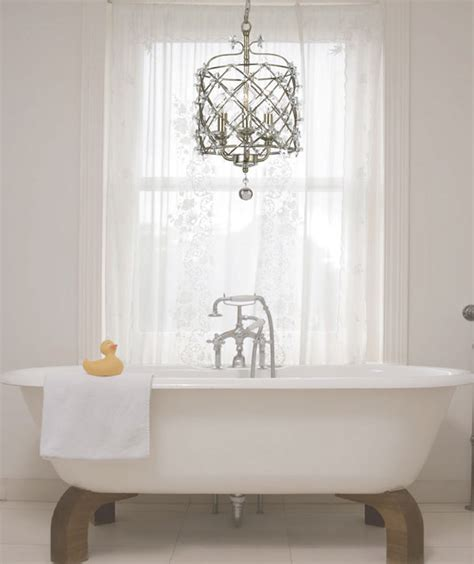 Bathrooms With Chandeliers Today S Lighting Trends 7 Ways To Add Fashion And Flair To Bare Ceilings Freshome