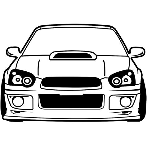 subaru wrx decals subaru impreza wrx sti front wall decal imprintnation