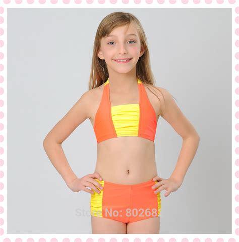 junior girls 2015 new fashion sexy cute girls bikini orange sexy