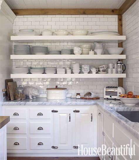 Kitchens Ideas 2014 by Open Shelving These 15 Kitchens Might Convince You