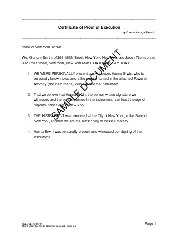 Affidavit Of Execution Nigeria Legal Templates Agreements Contracts And Forms Free Florida Affidavit Template